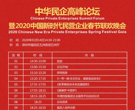 中华民企高峰论坛暨2020中国新时代民营企业春节联欢晚会